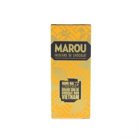 Mini chocolat noir MAROU Đồng Nai 72% Tablette