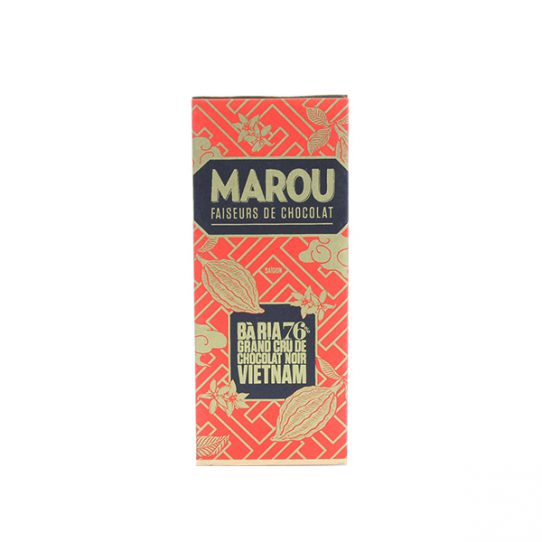 Mini chocolat noir MAROU Bà Rịa 76% Tablette