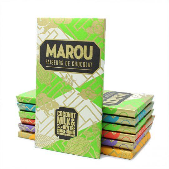 Chocolat au lait de coco MAROU Bến Tre 55%