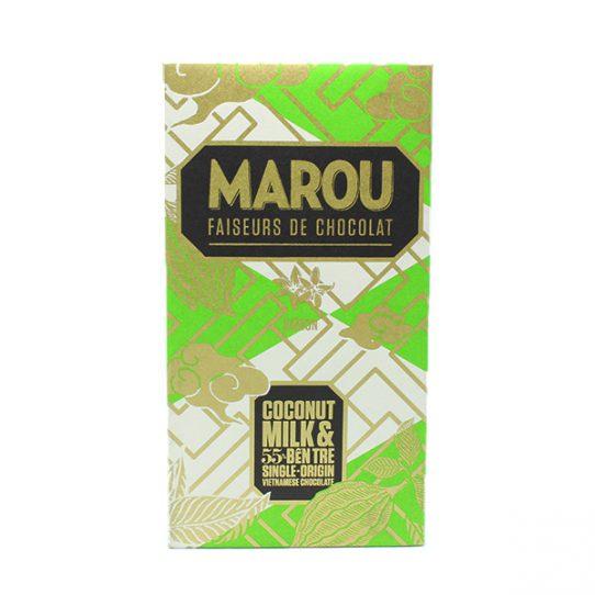 Chocolat au lait de coco MAROU Bến Tre 55% - Tablette