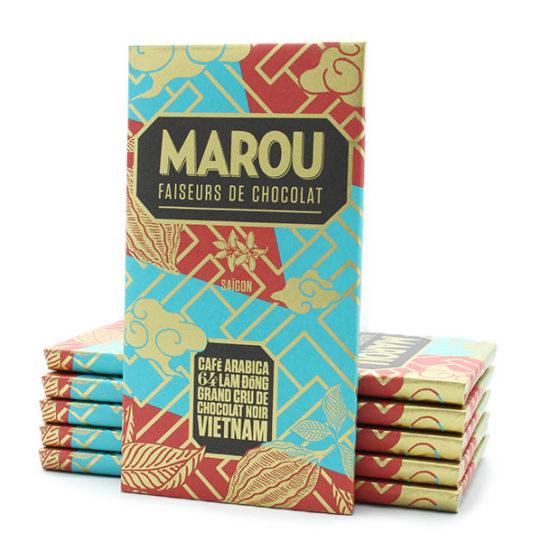 Chocolat noir MAROU Café Arabica Lâm Dông 64%