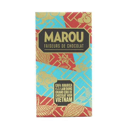 Chocolat noir MAROU Café Arabica Lâm Dông 64% Tablette
