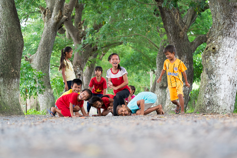 Des enfants du delta du Mékong