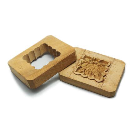 Moule à Gâteau de Lune en bois carré détail